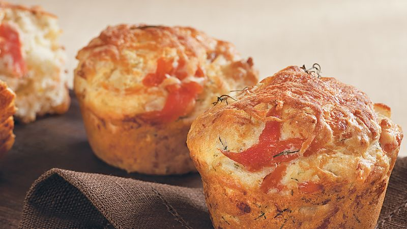 Smoked salmon, spinach and parmesan muffins
